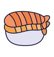 sushi fish seafood cartoon icon style design vector image vector image