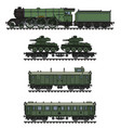 the vintage khaki military steam train vector image vector image
