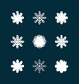 this is a set of grunge icons of snowflakes vector image vector image