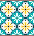 tiles pattern - azulejo lisbon retro tile vector image vector image
