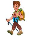 Trekking boy vector image vector image