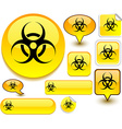 Virus yellow signs vector image
