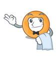 waiter onion ring mascot cartoon vector image vector image