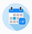 winter calendar with snowflake icon vector image