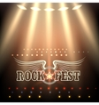 Rock Festival Poster Template vector image