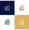 abstract arrows real estate house logo icon vector image vector image