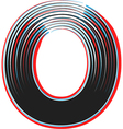 abstract font letter o vector image vector image