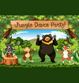 animals jungle dance party vector image