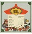 Asian Food Menu vector image vector image