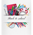 Back to school Background with supplies