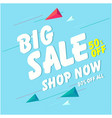 banner big sale 50 off shop now image vector image vector image