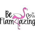 be flamazing on white background vector image vector image