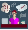 Businessman thinking infographics vector image vector image