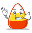 calling candy corn character cartoon vector image vector image