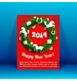 celebrating winter card vector image vector image