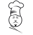 chef with chopsticks vector image vector image