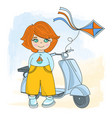 children cycle cartoon set vector image vector image