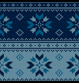 christmas knitted pattern winter geometric vector image vector image