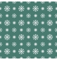 Christmas white snowflakes seamless green vector image vector image