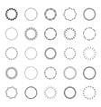 Circular designs borders vector image vector image
