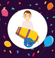 circus canon isolated icon vector image