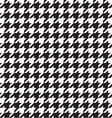 classic houndstooth seamless vector image vector image