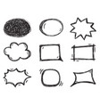 collection speech bubbles in comic vector image