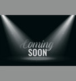 Coming soon background with spot light rays