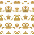 crown king vintage premium seamless pattern vector image