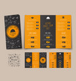 design a folding menu for cafes and restaurants vector image vector image