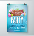 easter party flyer vector image vector image