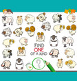 find one of a kind with sheep characters vector image vector image