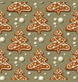 gingerbread christmas tree pattern vector image