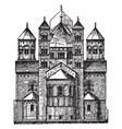 gothic architecture keywords vintage engraving vector image vector image