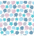 hand drawn seamless pattern in blue colour vector image