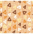 hand drawn triangle pattern on a coloured vector image