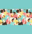 international womens day seamless pattern vector image