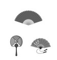 isolated object of fan and hand logo set of fan vector image
