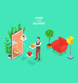 isometric flat concept of food home vector image vector image