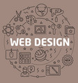 linear web design vector image