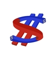 magnet - the dollar vector image