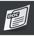 Monochrome DOC file sticker vector image