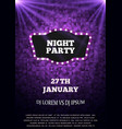 night party flyer template vector image vector image