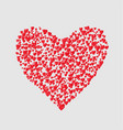 one big red heart consist of many small isolated h vector image