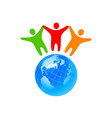 people global world template vector image vector image