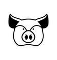 pig head sign piggy snout symbol farm animal vector image vector image
