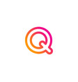 pixel letter q logo icon design vector image vector image