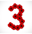 poppies number three vector image vector image