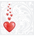 postcard with heart vector image