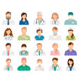 professional doctor avatars vector image vector image